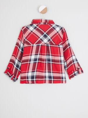 Chemise a carreaux rouge fille