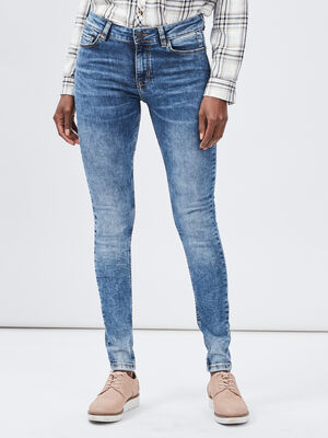 Jeans slim delave Creeks denim double stone femme