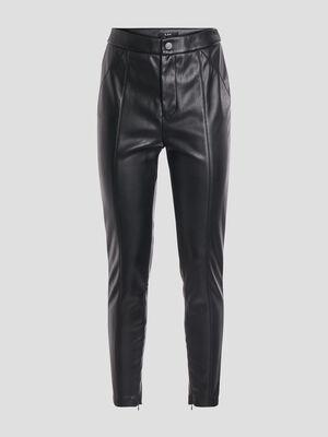 Pantalon simili cuir skinny city noir femme