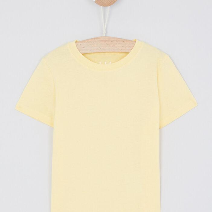 T-shirt manches courtes garçon jaune