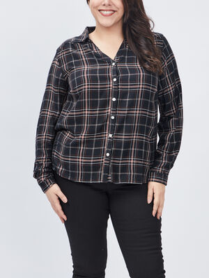 Chemise grande taille noir femmegt