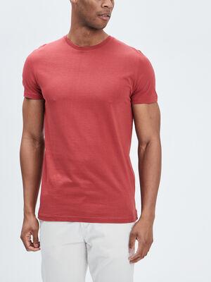 T shirt manches courtes bordeaux homme