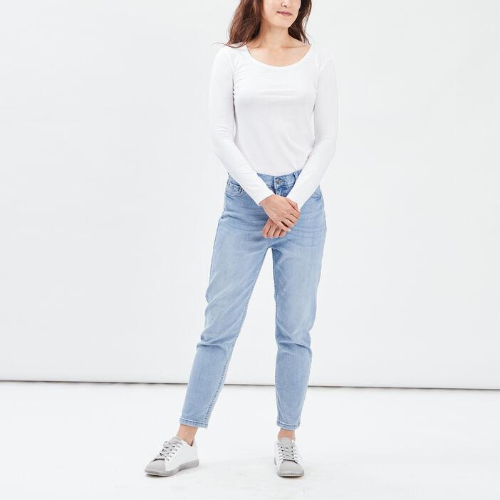 T-shirt manches longues femme blanc