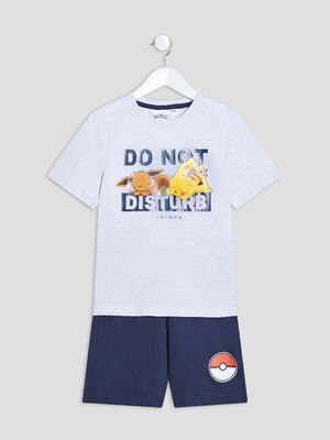 Ensemble pyjama Pokemon gris garcon