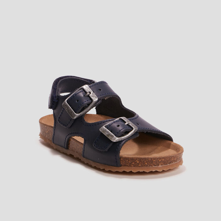 Sandales en cuir avec brides garçon bleu