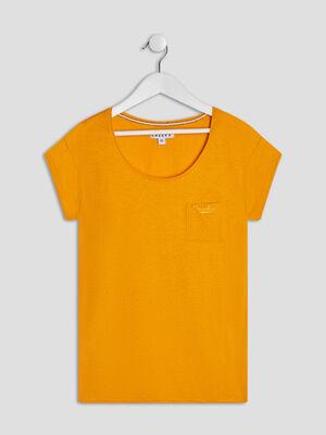 T shirt manches courtes Creeks jaune moutarde fille