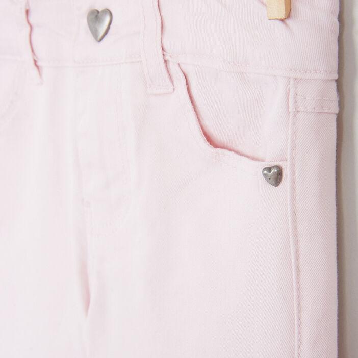 Pantalon skinny fille rose clair