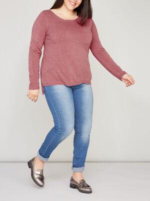 Jeans slim grande taille denim stone femme