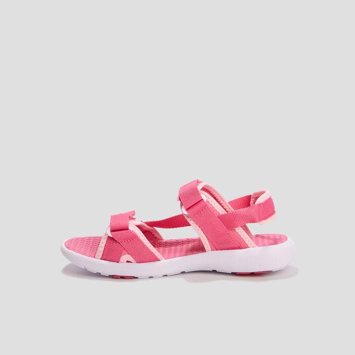 Sandales à scratchs fille rose