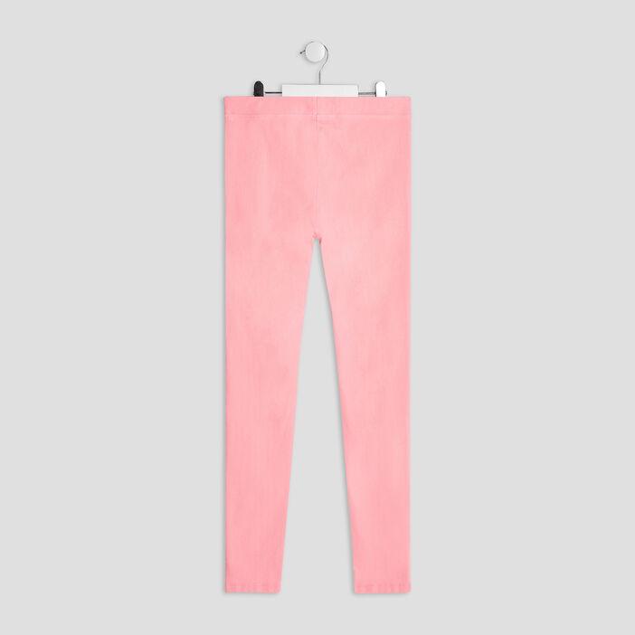 Pantalon jogging fille rose fluo