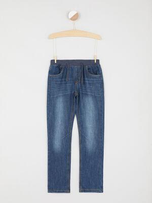 Jean taille extensible coton majoritaire denim stone garcon