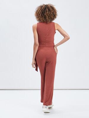 Combinaison pantalon terracotta femme