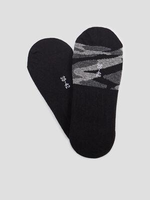 Lot 2 paires de protege pied noir homme