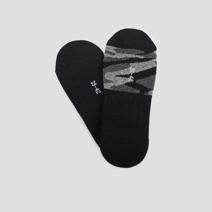 Lot 2 paires de protège-pied homme noir
