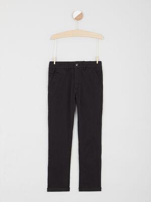 Pantalon 5 poches coton extensible noir garcon