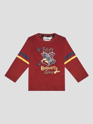 T shirt Harry Potter bordeaux garcon
