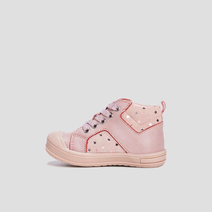 Baskets montantes bébé fille rose