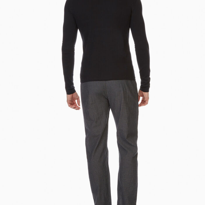 Pyjama long 2 pièces coton homme noir