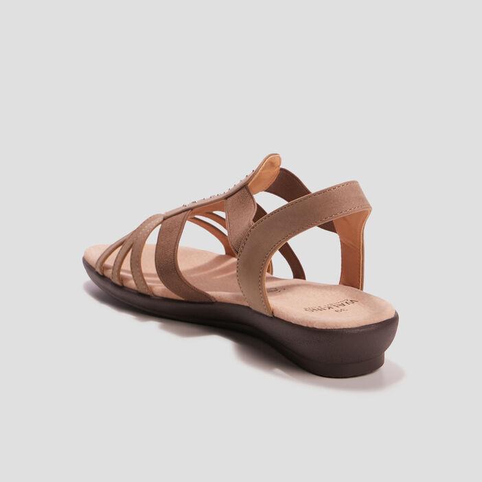 Sandales compensées femme couleur bronze