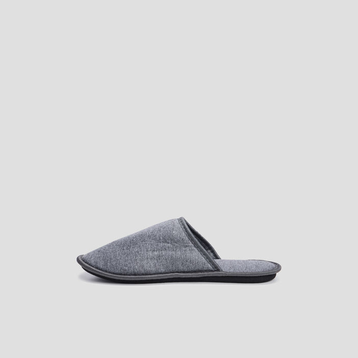 Chaussons mules homme gris