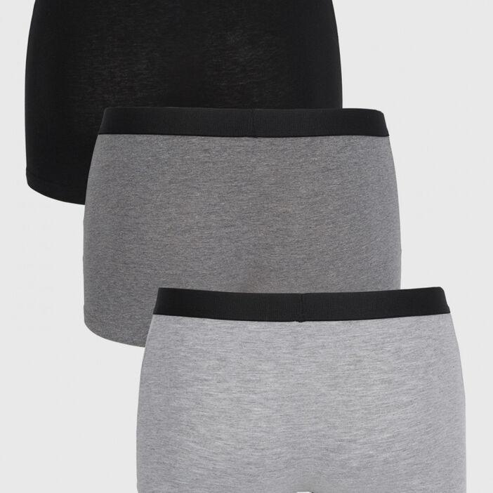 Lot de 3 boxers coton homme noir