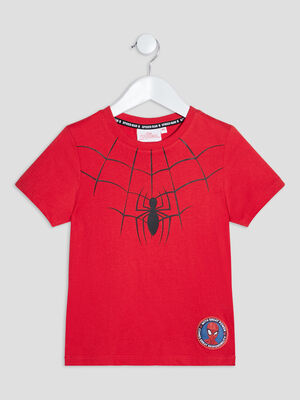 T shirt Spider Man rouge garcon
