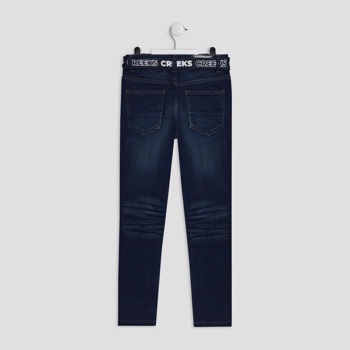 Jeans slim ceinturé Creeks garçon denim brut