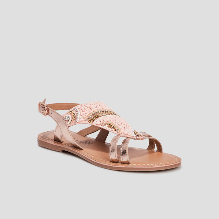 Sandales en cuir Creeks fille rose