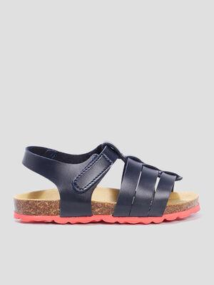Sandales crantees bleu garcon