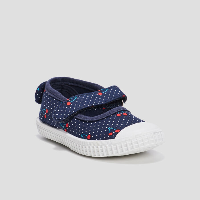 Babies avec noeuds mixte bleu marine