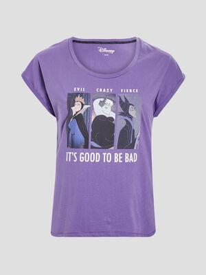 T shirt manches courtes Disney violet femmegt