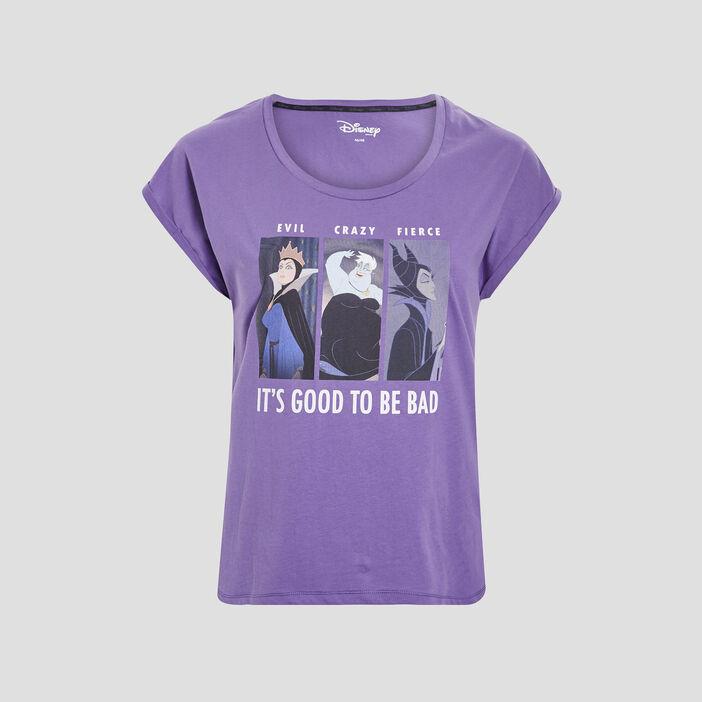 T-shirt manches courtes Disney femme grande taille violet