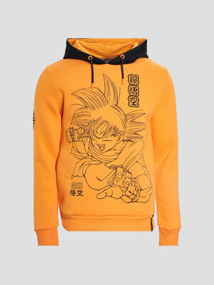 Sweat a capuche Dragon Ball Z orange homme