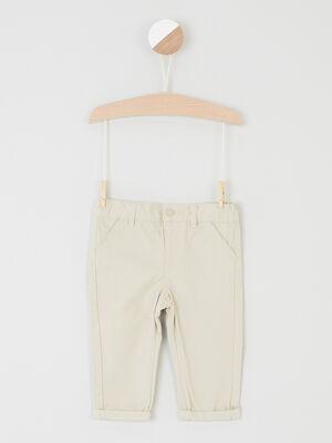 Pantalon uni forme chino beige garcon