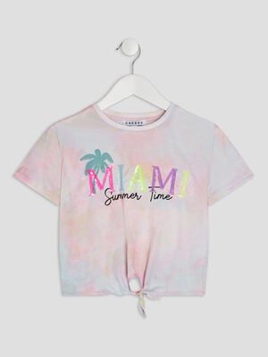 T shirt manches courtes Creeks multicolore fille