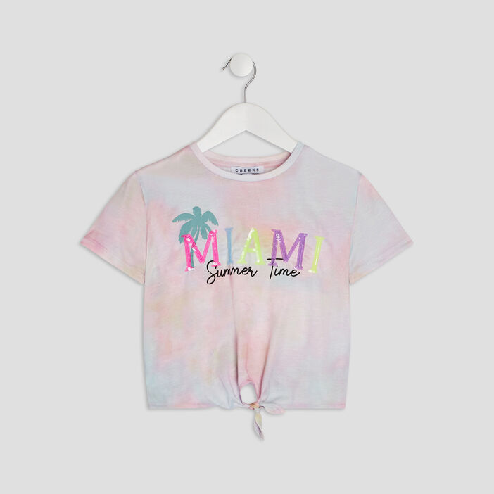 T-shirt manches courtes Creeks fille multicolore