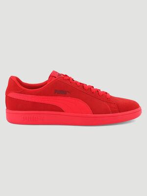 Tennis cuir Puma SMASH V2 rouge homme