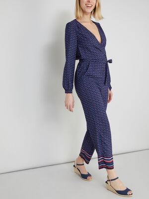 Combinaison pantalon imprimee multicolore femme