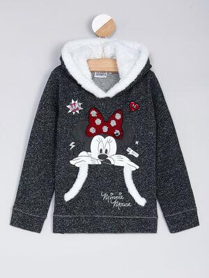 Sweatshirt gris fille