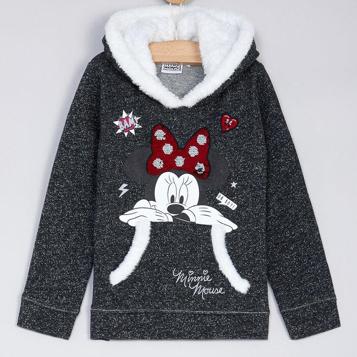 Sweatshirt fille gris