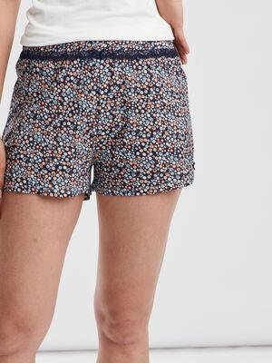 Bas de pyjama short bleu femme