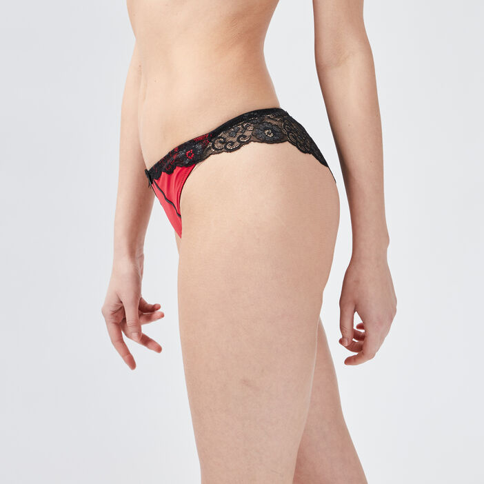Culotte tanga femme rouge