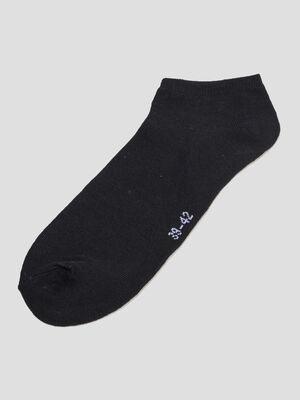 Lot 5 paires chaussettes noir homme