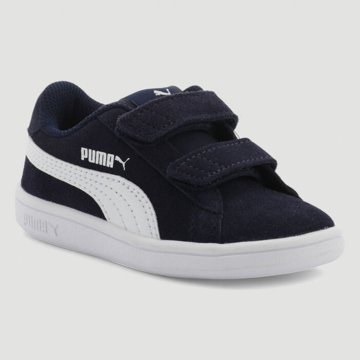 Tennis cuir Puma SMASH V2 fille bleu
