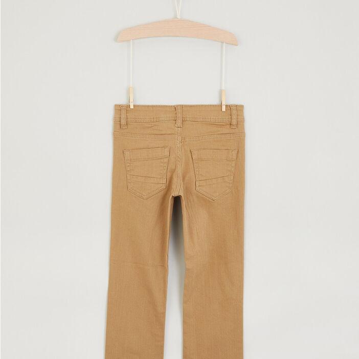 Pantalon regular garçon camel
