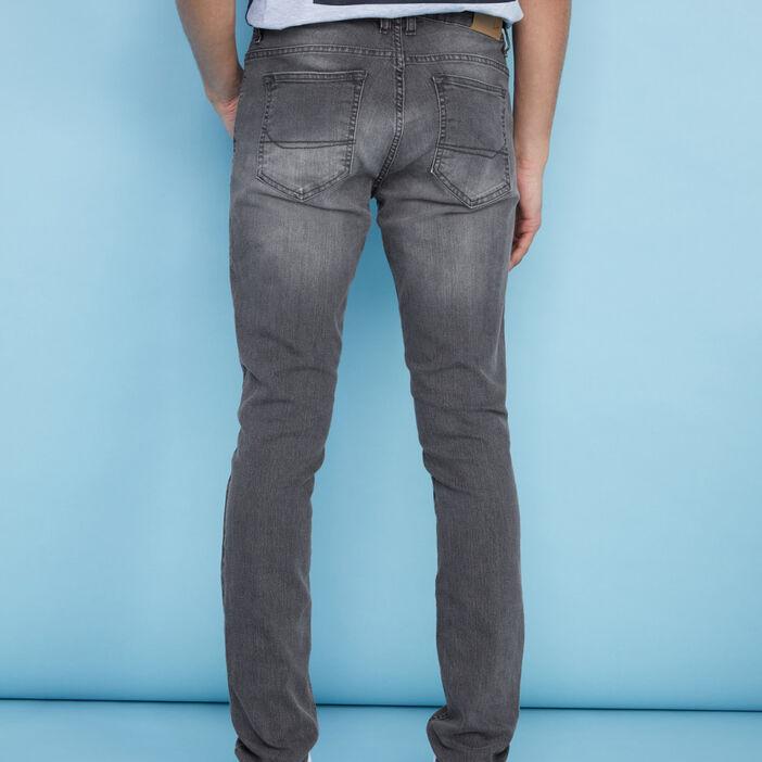 Jean skinny délavé homme gris