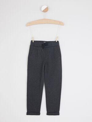 Pantalon a taille elastiquee gris fonce garcon