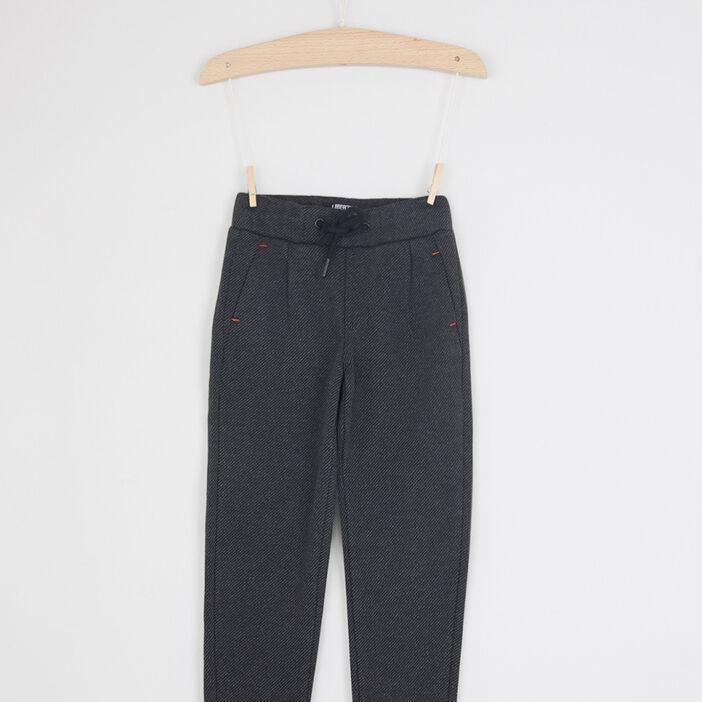 Pantalon à taille élastiquée garçon gris foncé
