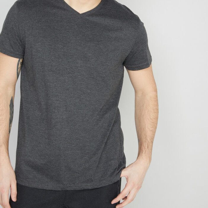 T-shirt manches courtes homme gris fonce