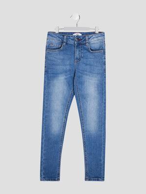 Jeans skinny effet use denim double stone garcon